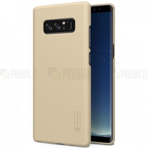 Samsung Galaxy Note 8 (N950F) Nillkin Frosted Shield zelta plastmasas futrālis + ekrāna aizsargplēve