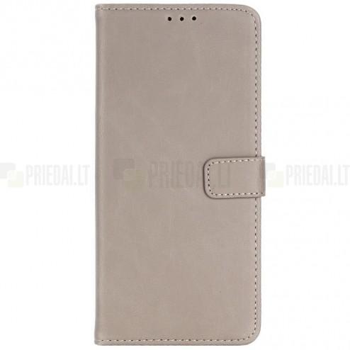 Samsung Galaxy Note 8 (N950F) atvēramais ādas smilšains retro maciņš (maks)