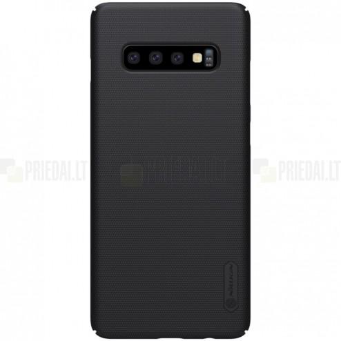 Samsung Galaxy S10 (G973) Nillkin Frosted Shield melns plastmasas apvalks