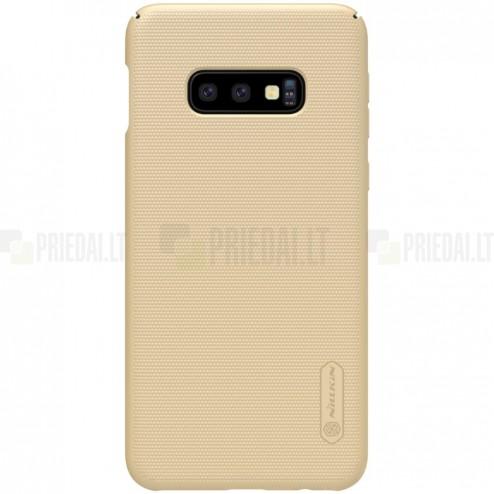 Samsung Galaxy S10e (G970) Nillkin Frosted Shield zelta plastmasas apvalks