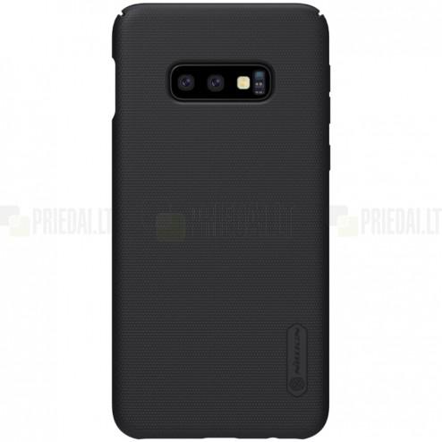 Samsung Galaxy S10e (G970) Nillkin Frosted Shield melns plastmasas apvalks