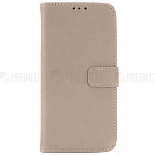 Samsung Galaxy S10e (G970) atvēramais ādas smilšains retro maciņš (maks)