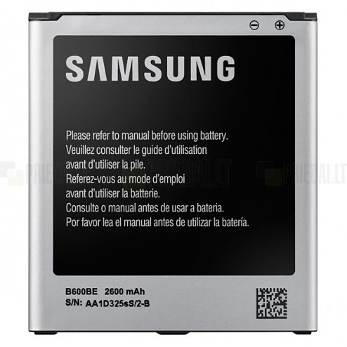 Samsung Galaxy S4 i9500 akumulators (EB-B600BE, 2600 mAh, vidējais, originals)