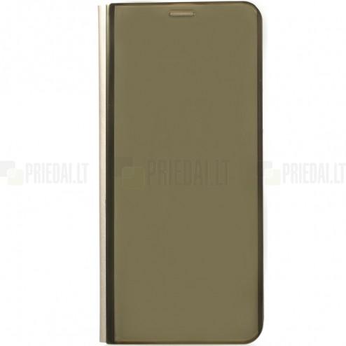 Samsung Galaxy S9 (G960) plastmasas atvērams zelta ādas maciņš