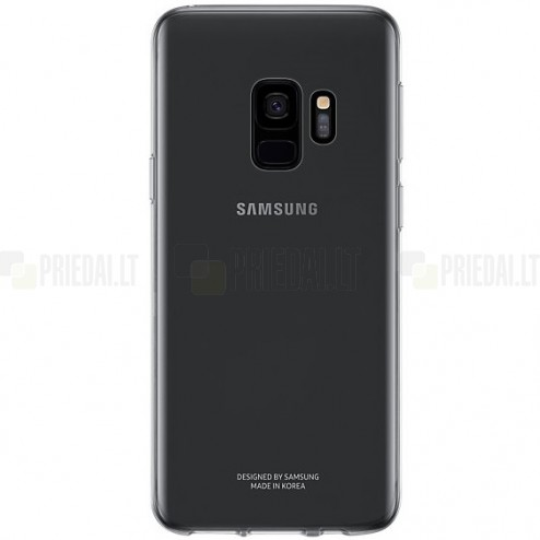 Samsung Galaxy S9 (G960) cieta silikona (TPU) pelēks apvalks