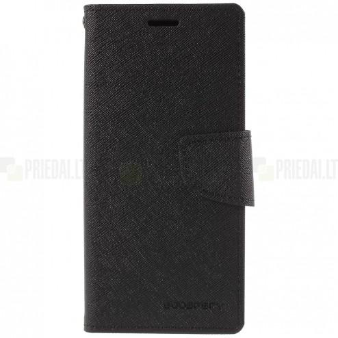 """""""Mercury"""" Fancy Samsung Galaxy S9 (G960) melns ādas maciņš"""