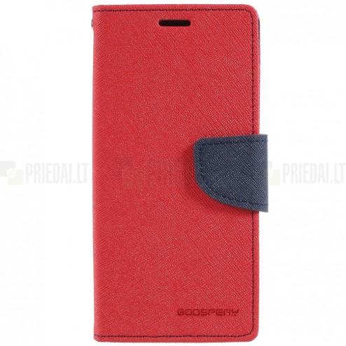 """""""Mercury"""" Fancy Samsung Galaxy S9 (G960) sarkans ādas maciņš"""