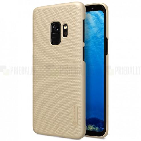Samsung Galaxy S9 (G960) Nillkin Frosted Shield zelta plastmasas apvalks + ekrāna aizsargplēve