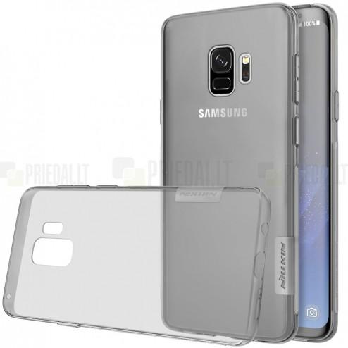 Samsung Galaxy S9 (G960) Nillkin Nature dzidrs (caurspīdīgs) silikona planākais pelēks apvalks