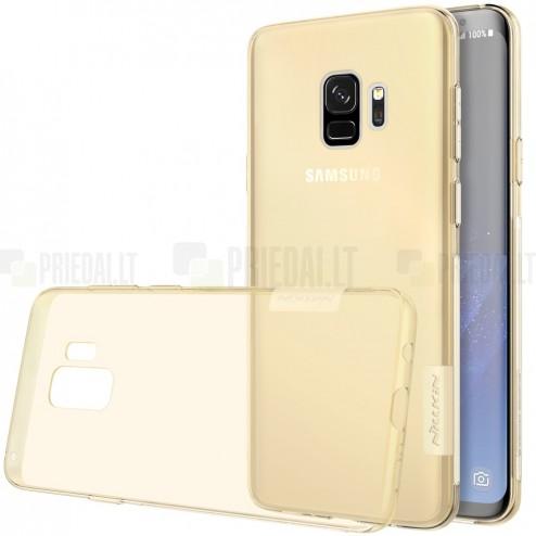 Samsung Galaxy S9 (G960) Nillkin Nature dzidrs (caurspīdīgs) silikona planākais brūns apvalks