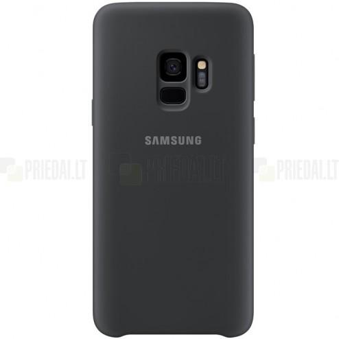 "Samsung Galaxy S9 (G960) ""Samsung"" Silicone Cover cieta silikona TPU melns apvalks"