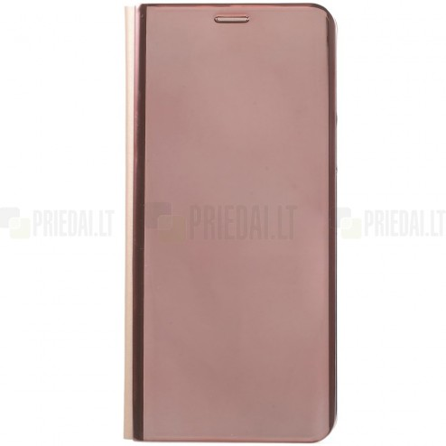 Samsung Galaxy S9 (G960) plastmasas atvērams rozs ādas maciņš