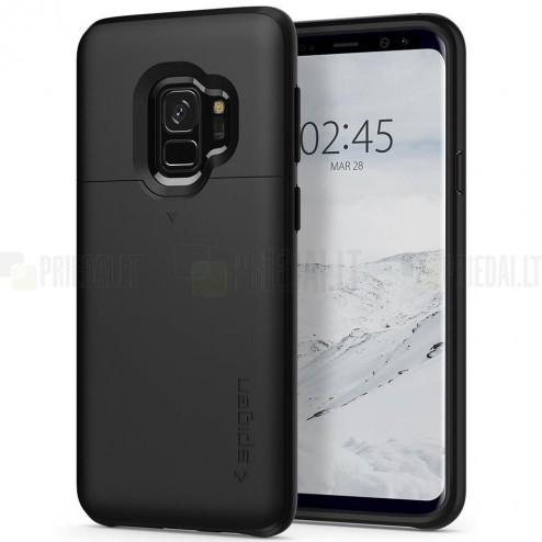 "Samsung Galaxy S9 (G960) ""Spigen"" Slim Armor CS melns silikons apvalks"
