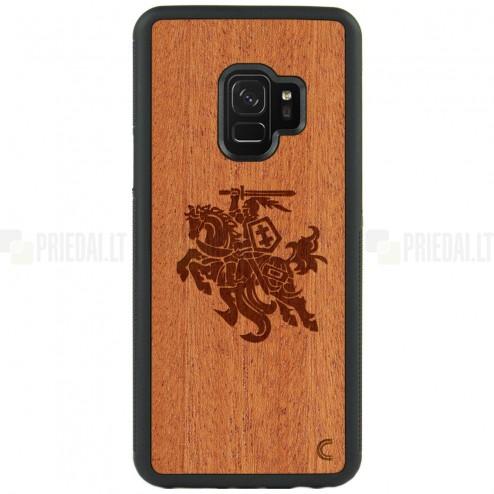 """Samsung Galaxy S9 (G960) """"Crafted Cover"""" Vytis dabīga koka telefona apvalks"""