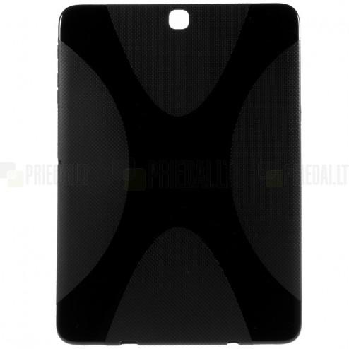 Samsung Galaxy Tab S2 9.7 (T815, T810) cieta silikona (TPU) melns apvalks