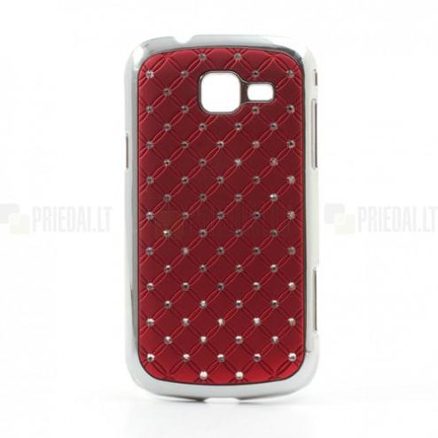 Samsung Galaxy Trend II S7570 elegants sarkans futrālis ar spīduļiem