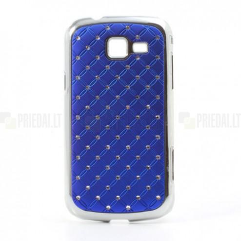 Samsung Galaxy Trend II S7570 elegants tumši zils futrālis ar spīduļiem