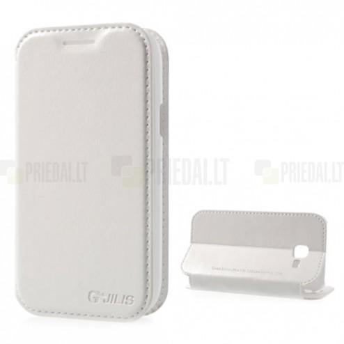 """""""Jilis"""" atvērams ādas balts Samsung Galaxy Trend II S7570 futrālis"""