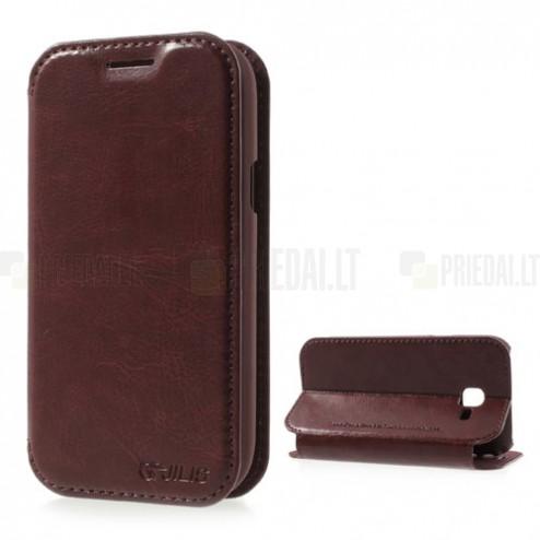 """""""Jilis"""" atvērams ādas brūns Samsung Galaxy Trend II S7570 futrālis"""