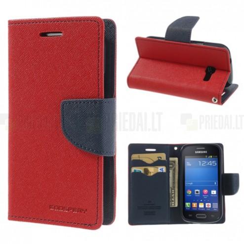 Samsung Galaxy Trend Lite (S7390) Mercury atvērams sarkans maciņš (maks)