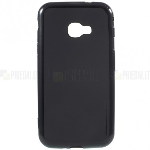Samsung Galaxy Xcover 4 / 4S (G390, G398) cieta silikona (TPU) melns apvalks