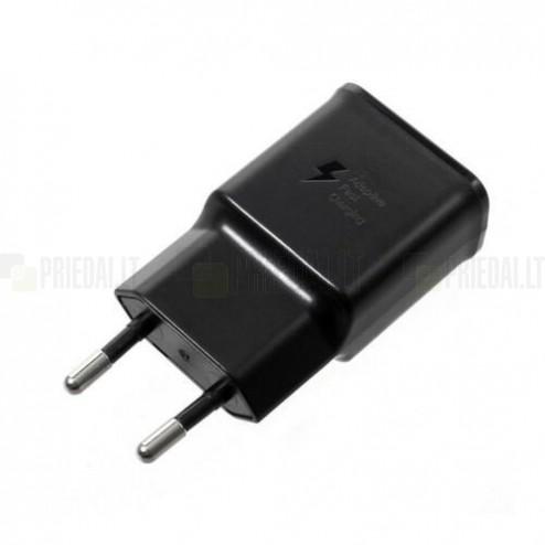 "Origināls ""Samsung"" Adaptive Fast Charge melns tīkla lādētājs EP-TA200EBE"
