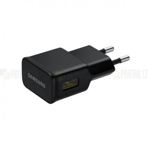 """Origināls """"Samsung"""" melns tīkla lādētājs (Eiropas modelis 2A)"""