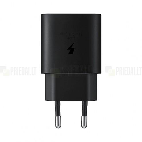 """Origināls """"Samsung"""" Super Fast Charging 25W EP-TA800 tīkla lādētājs - melns"""