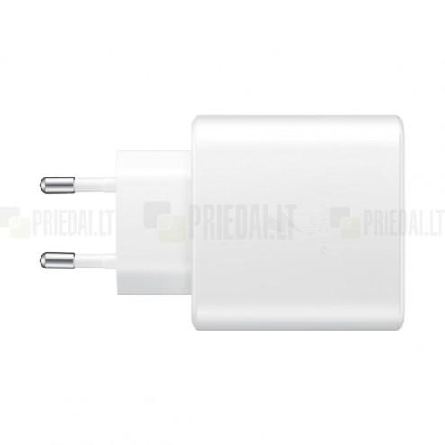 """Oriģināls """"Samsung"""" Super Fast Charging 45W EP-TA845 tīkla lādētājs - balts ar USB Type-C vadu"""