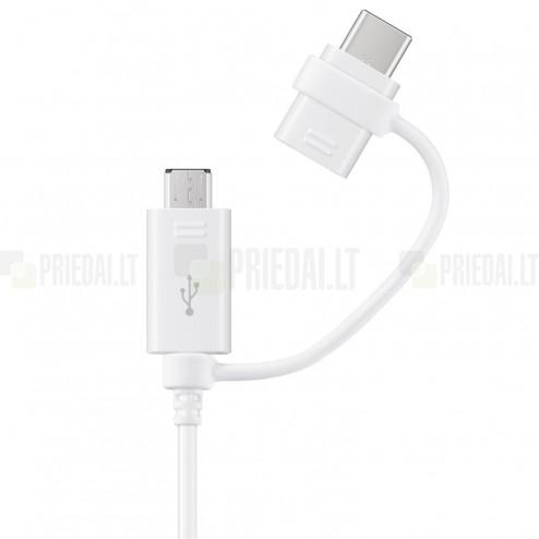 """Samsung"" Combo micro USB + Type-C balts vads 1 m. (origināls) (EP-DG930)"