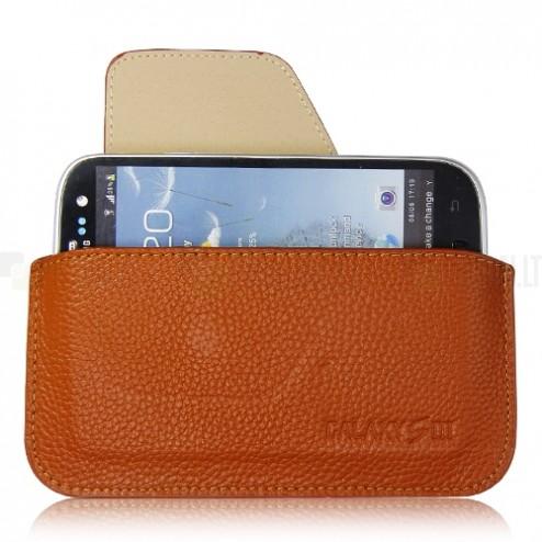 Universāls aizverams brūns Samsung Galaxy S3 maciņš
