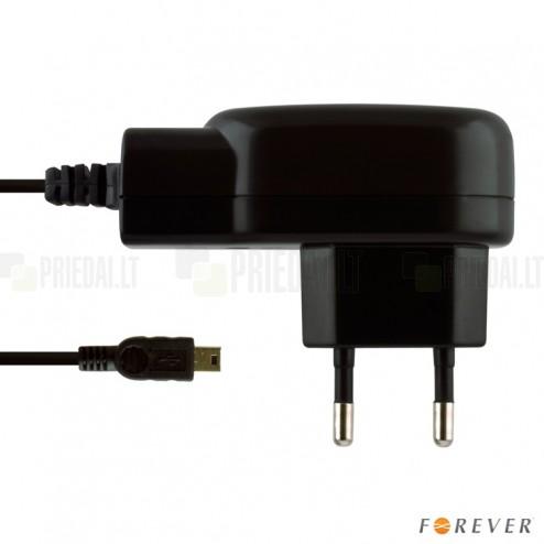 """""""Forever"""" sienas lādētājs ar micro USB vadu - melns"""