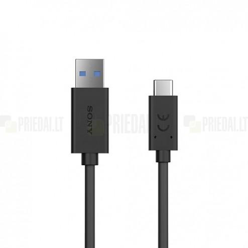 "Oficiāls ""Sony"" Fast Charging USB Type-C sarkans vads 0,95 m. (UCB30, origināls)"
