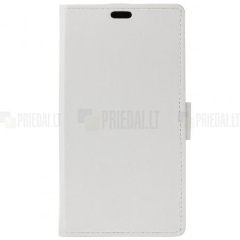 Sony Xperia 1 (XZ4) atvēramais ādas balts maciņš (maks)