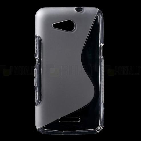 Sony Xperia E4g dzidrs un matēts cieta silikona (TPU) apvalks