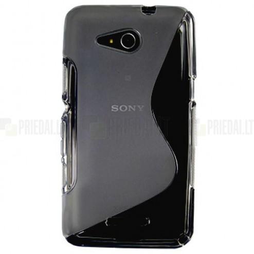 Sony Xperia E4g dzidrs cieta silikona (TPU) pelēks apvalks