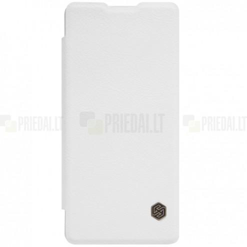 """Greznais """"Nillkin"""" Qin sērijas ādas atvērams balts Sony Xperia XA maciņš (maks)"""