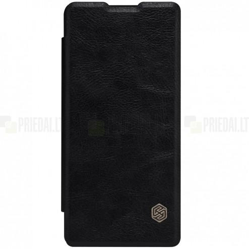 """Greznais """"Nillkin"""" Qin sērijas ādas atvērams melns Sony Xperia XA maciņš (maks)"""