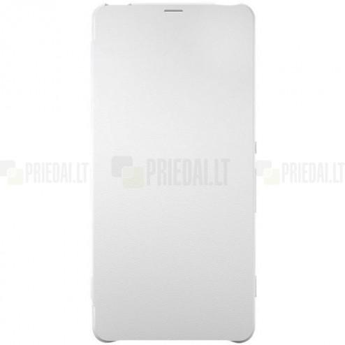 Oficiāls Sony Xperia XA Style Cover Flip balts atvērams maciņš SCR54 (maks)