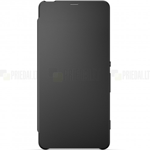 Oficiāls Sony Xperia XA Style Cover Flip melns atvērams maciņš SCR54 (maks)