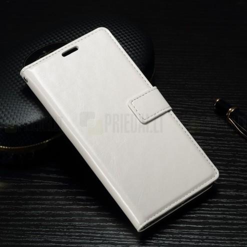 Sony Xperia XA1 atvēramais ādas balts maciņš (maks)