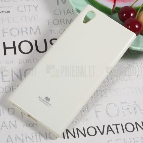 Sony Xperia XA1 Mercury balts cieta silikona (TPU) apvalks