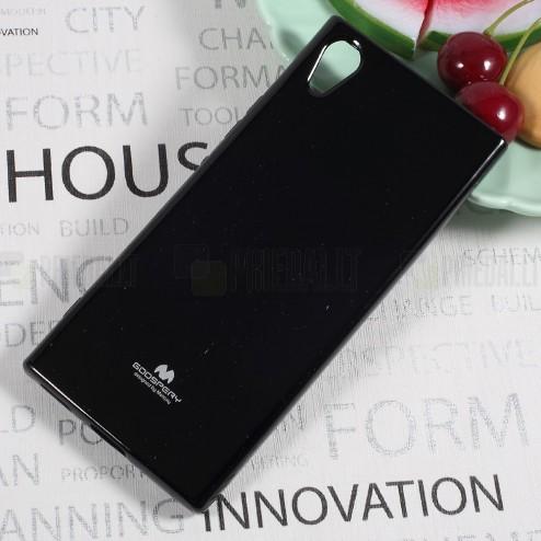 Sony Xperia XA1 Mercury melns cieta silikona (TPU) apvalks