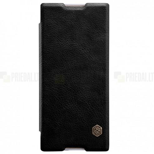 "Greznais ""Nillkin"" Qin sērijas ādas atvērams melns Sony Xperia XA1 (G3121, G3123, G3125, G3112, G3116) maciņš (maks)"