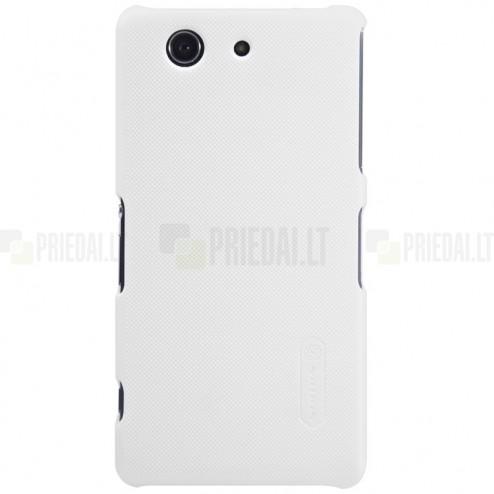 Sony Xperia Z3 Compact Nillkin Frosted Shield balts plastmasas futrālis + ekrāna aizsargplēve