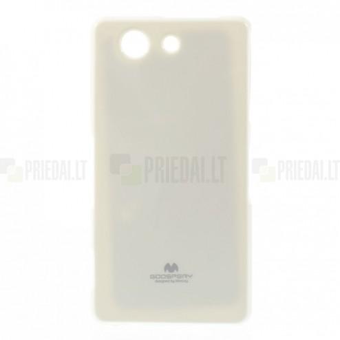 Sony Xperia Z3 Compact Mercury balts cieta silikona (TPU) futrālis