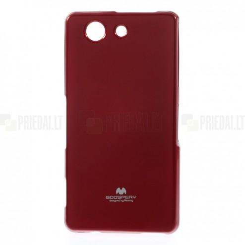 Sony Xperia Z3 Compact Mercury sarkans cieta silikona (TPU) futrālis