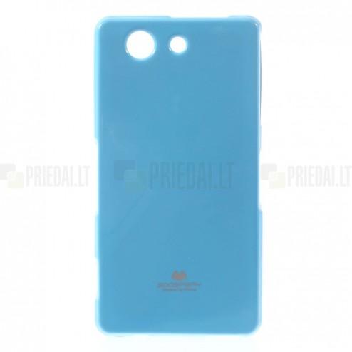 Sony Xperia Z3 Compact Mercury gaiši zils cieta silikona (TPU) futrālis