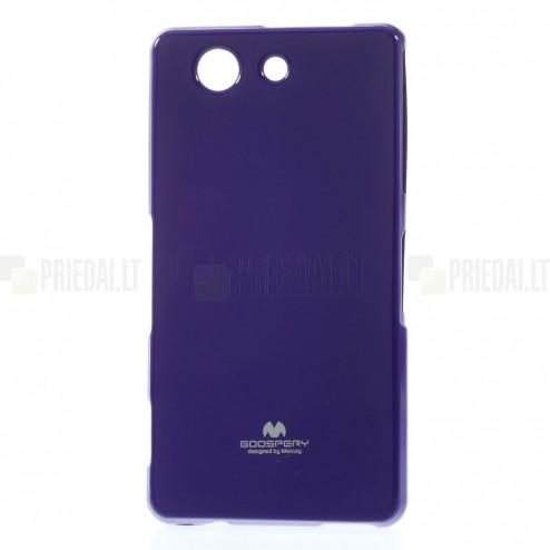 Sony Xperia Z3 Compact Mercury violeta cieta silikona (TPU) futrālis