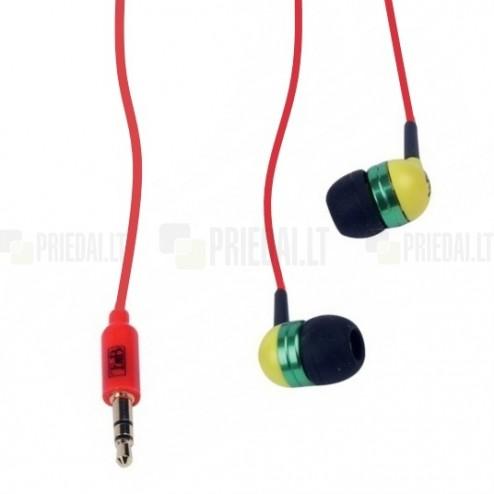 """""""T'nB"""" Music Trend Reggae ausīs ieliekamās sarkanas austiņas"""
